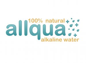allqua - 100% natural alkaline water logo